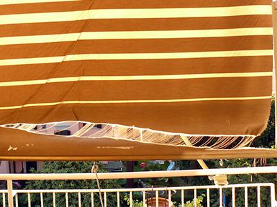 Telo tenda da sole strappato Velletri Lariano Albano Colleferro Valmontone Artena